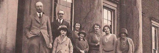 The Giffard Family outside Chillington Hall in the 1920s